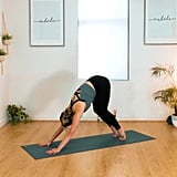Downward-Facing Dog Pose and Walk To the Top Of the Mat