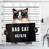 Bad Cat Shower Curtain