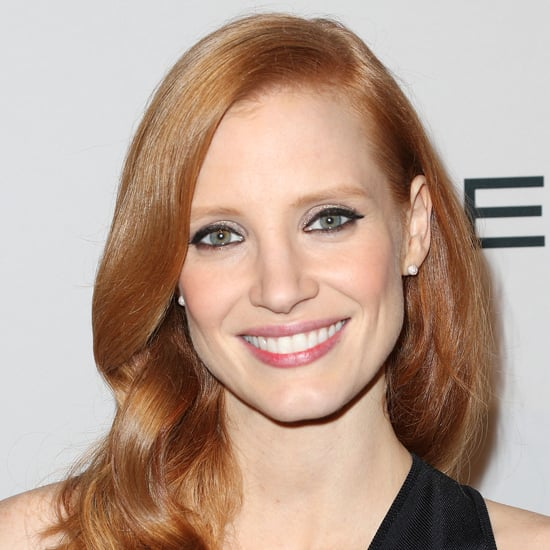 Jessica Chastain With Black Liquid Eyeliner