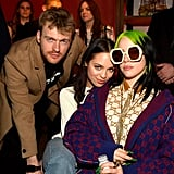 Finneas O'Connell, Claudia Sulewski, and Billie Eilish at the 2020 Universal Grammys Afterparty