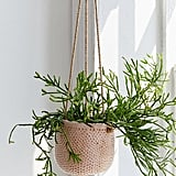 Dimpled Ceramic Hanging Planter