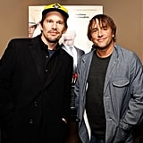 Ethan Hawke hung out with director Richard Linklater at the New York premiere of Bernie.