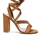 Gianvito Rossi Suede Janis High Sandals ($795)