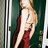 UO Genova Velvet Tie-Back Mini Dress