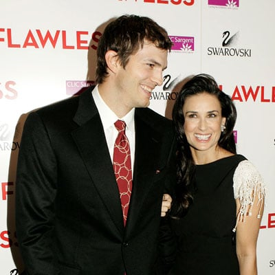 Ashton Kutcher and Demi Moore in London for Flawless Charity Premiere
