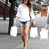 Shopping in Her Shorts