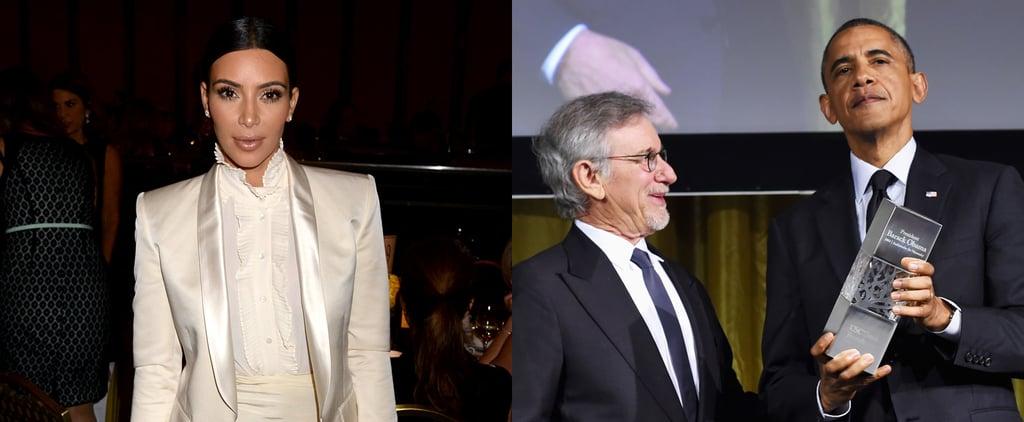 Kim Kardashian and Barack Obama at the Shoah Gala