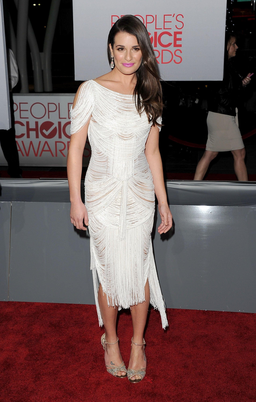 Lea Michele rocked a draped dress.