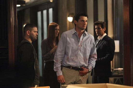 Guillermo Diaz, Darby Stanchfield, Wes Brown, and Henry Ian Cusick in Scandal.</p> <p>Photos copyright 2012 ABC, Inc.