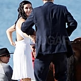 Courteney and Josh were dressed up for the season three finale of Cougar Town.