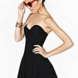 Nasty Gal black strapless sweetheart-neckline Dark Romance dress ($68)