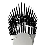 Iron Throne Toilet Decal Sticker Parody