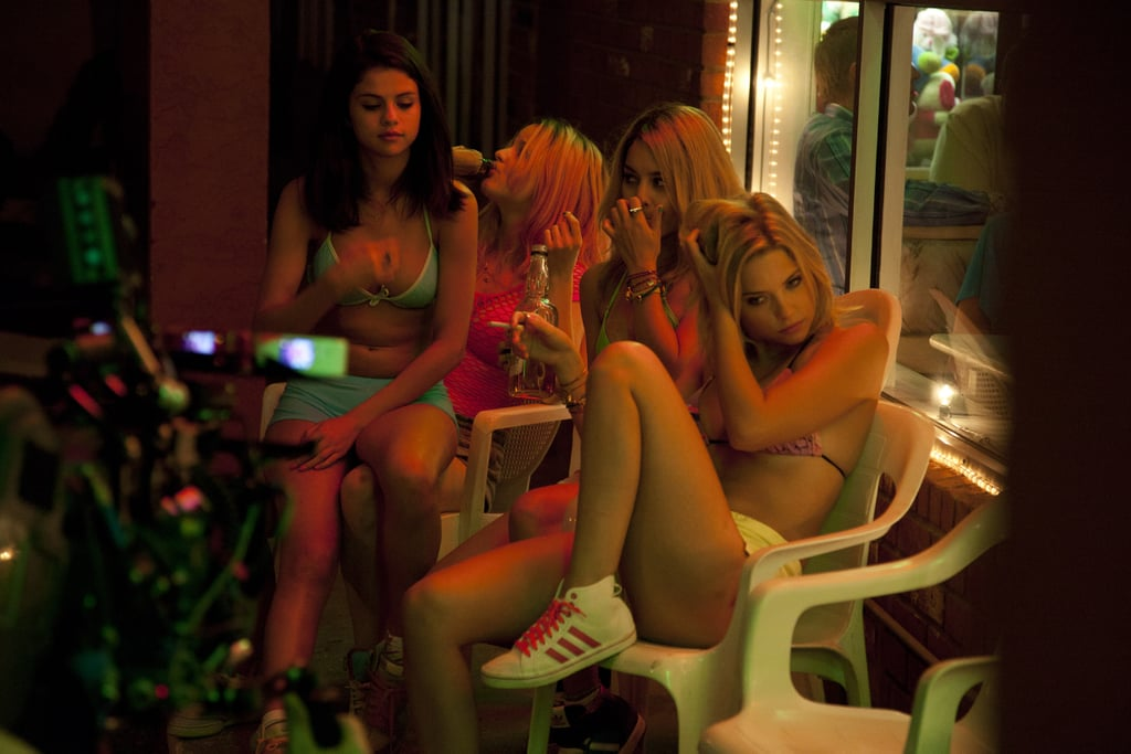 Vanessa Hudgens, Selena Gomez, Ashley Benson, and Rachel Korine in Spring Breakers