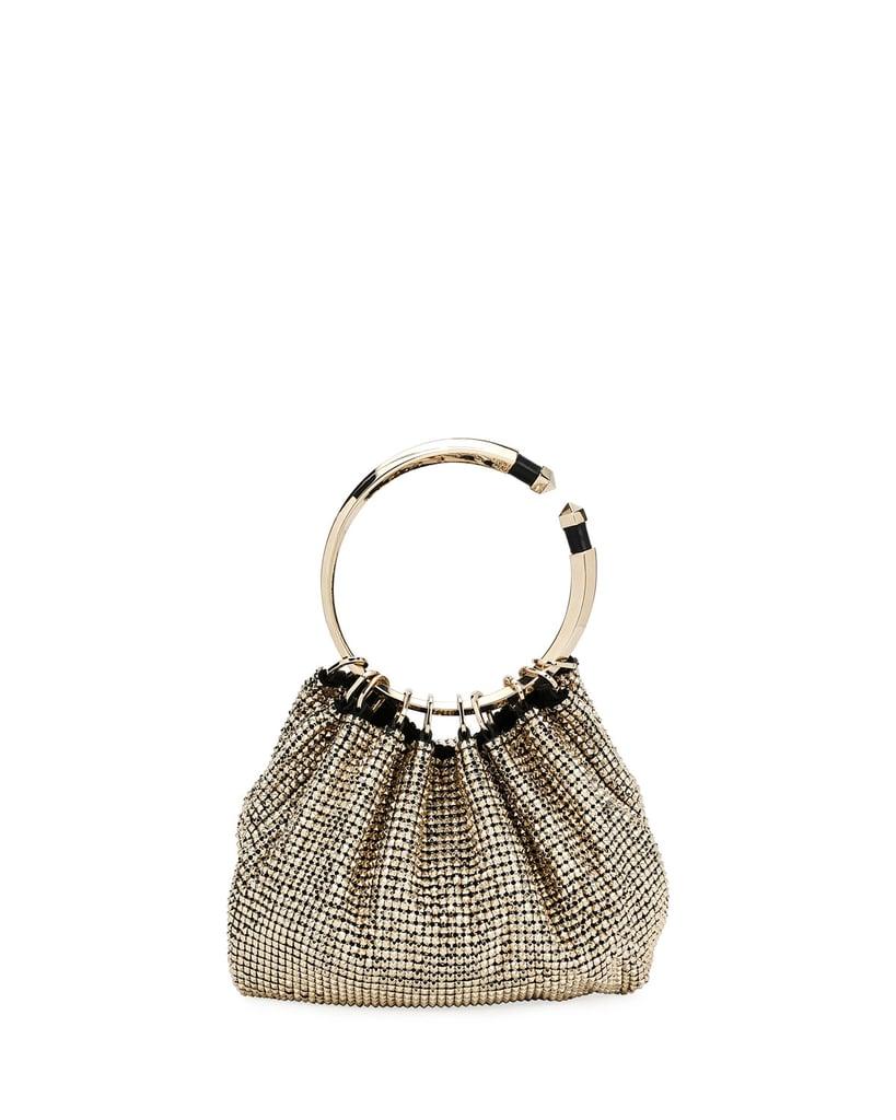 Valentino Bebop Ring Loop-Handle Clutch Bag