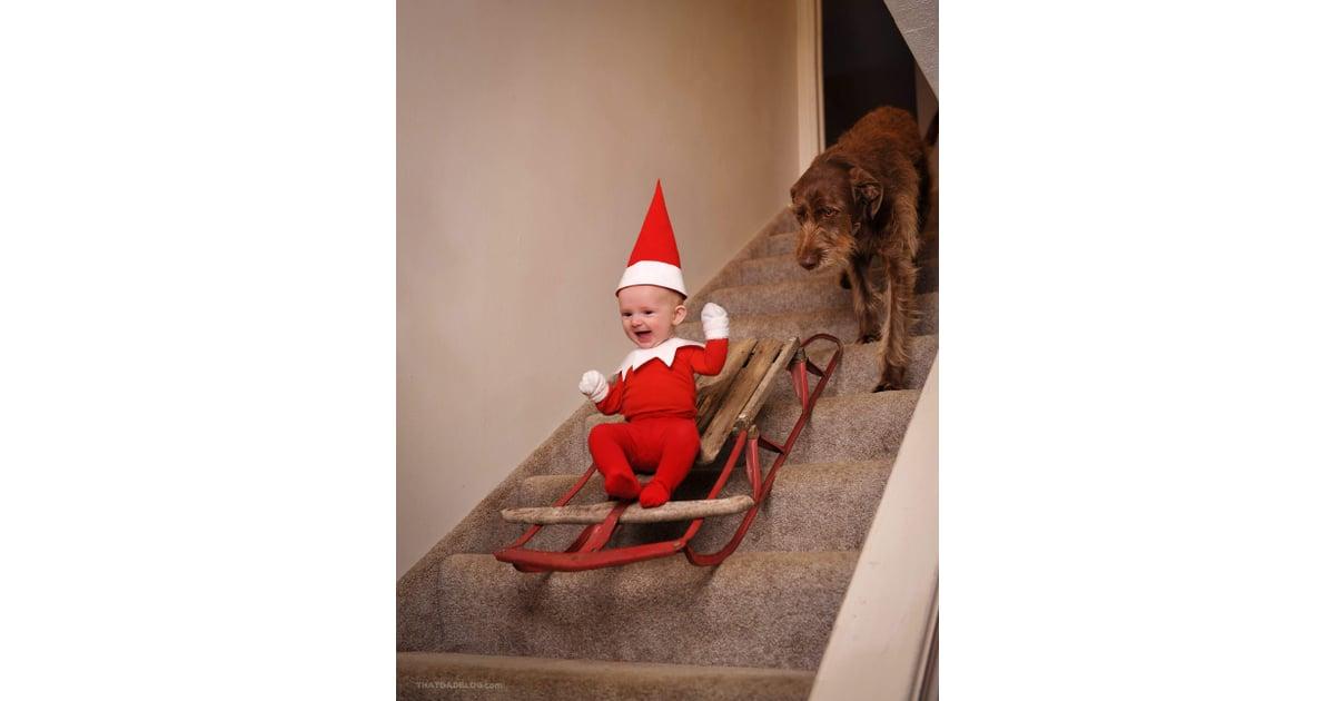 Real Life Elf On The Shelf Ideas Popsugar Family Photo 11