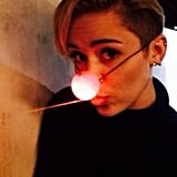 Miley Cyrus played Rudolph.  Source: Instagram user mileycyrus