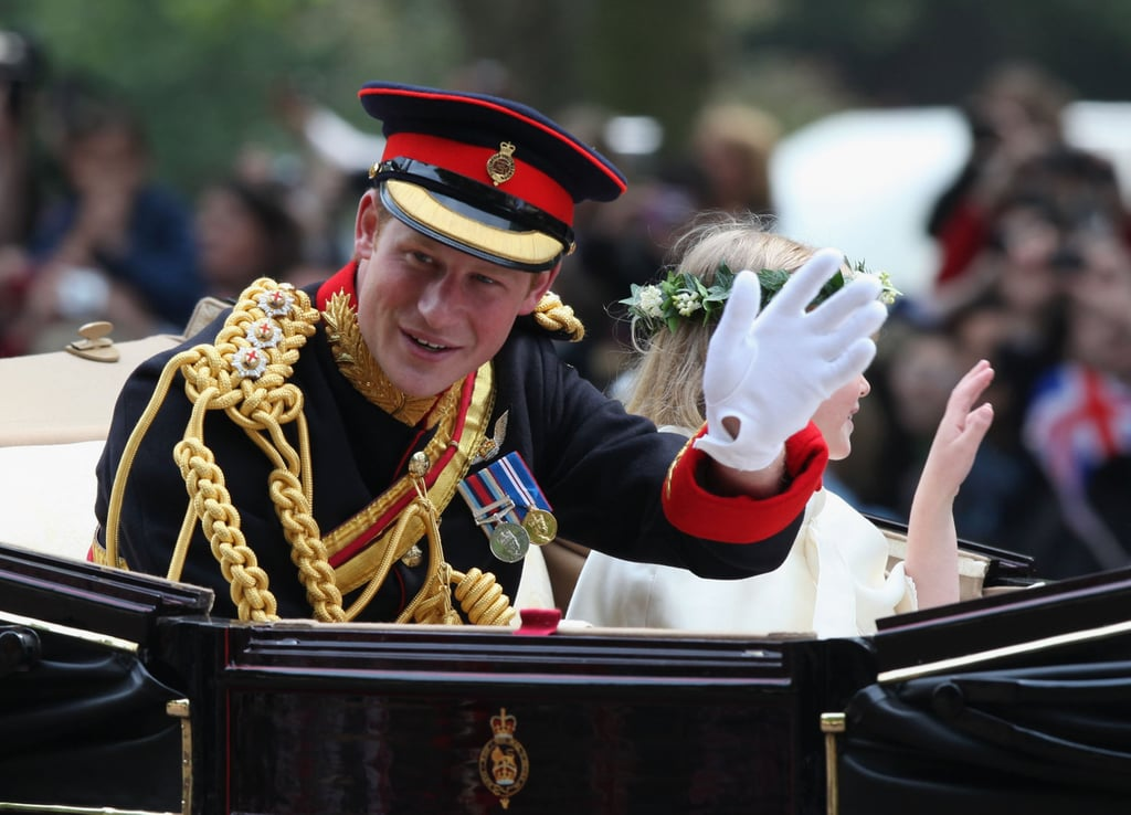 Pictures of Prince Harry in the Carriage Procession After Royal Wedding