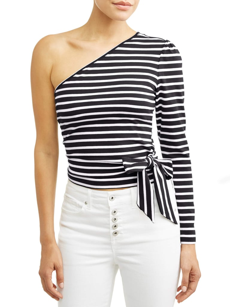 One Shoulder Wrap Top