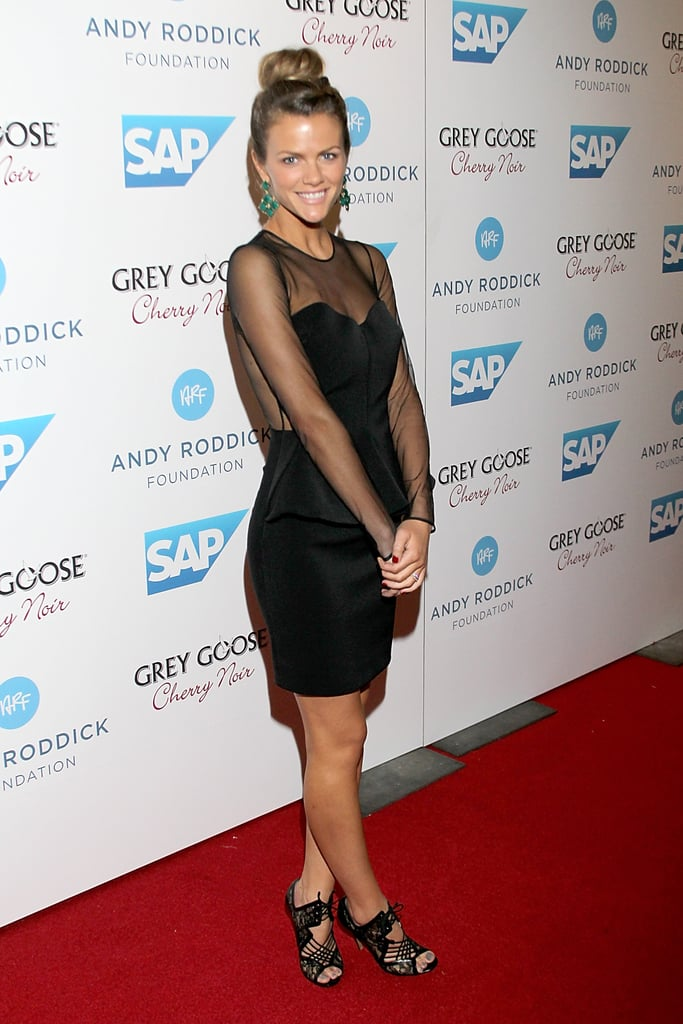Brooklyn Decker got all dolled up in a sheer-sleeved Stella McCartney LBD and Nicholas Kirkwood heels for her hubby's annual Andy Roddick Foundation gala.
