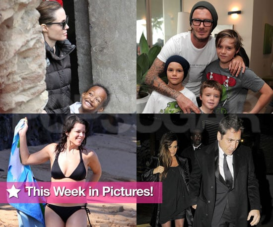 Pictures of Penelope Cruz Pregnant, David Beckham's Boys, Neve Campbel Bikini and More!