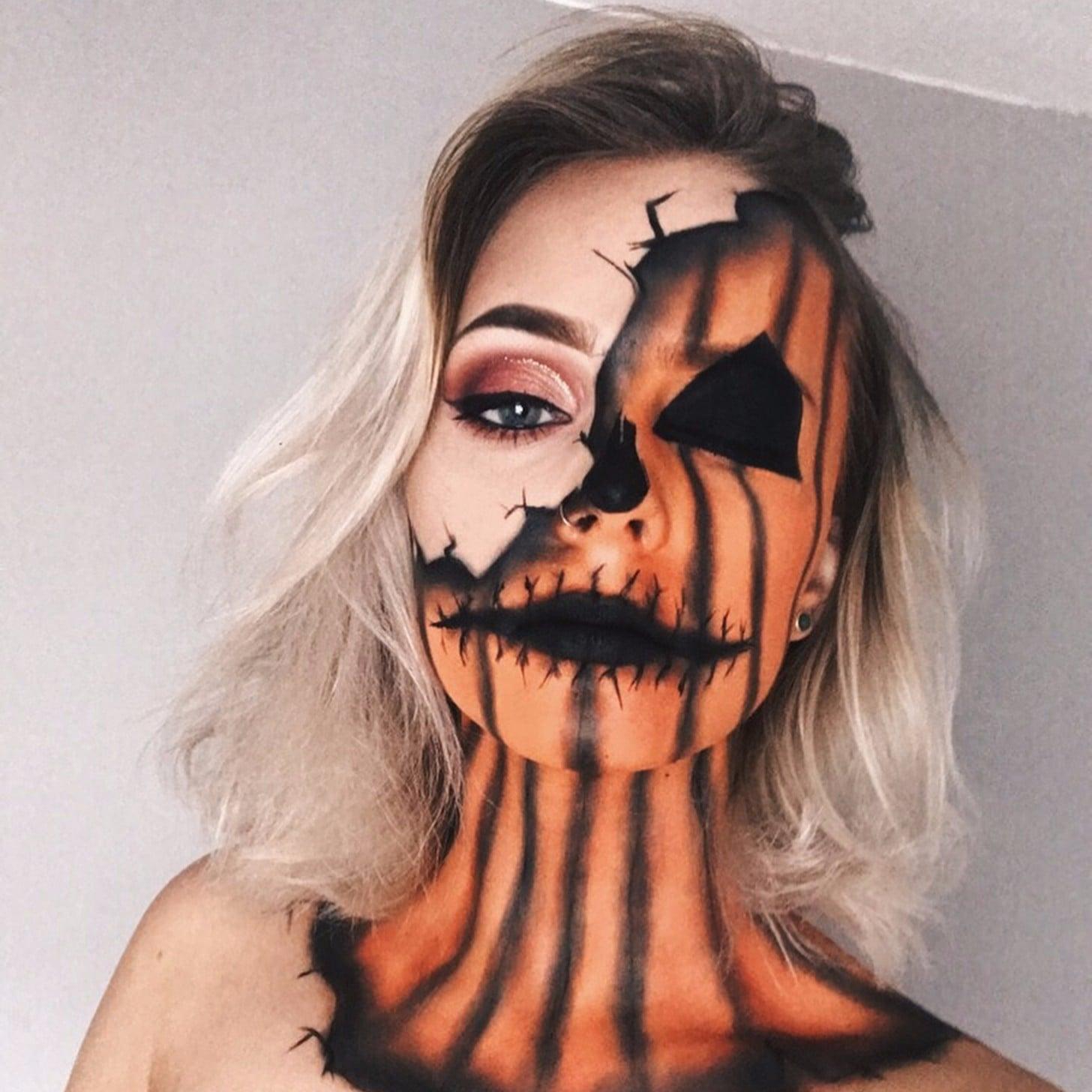 Pumpkin Makeup Ideas for Halloween   POPSUGAR Beauty