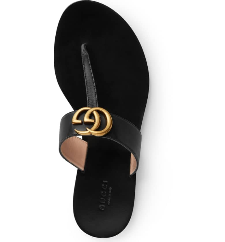 46bb78887 Gucci Marmont T-Strap Sandal | Best Black Sandals For Women ...