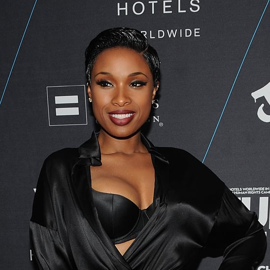 Jennifer Hudson in Sexy Robe Dress