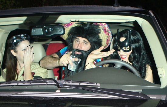Gwen Stefani on her way to  Kate Hudson's Halloween Party