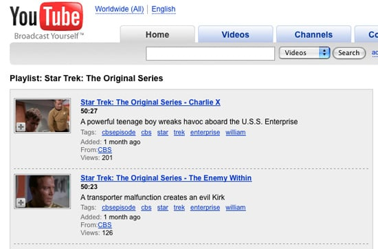 YouTube Gets Full Episodes of Geeky Classics!