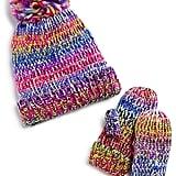 Marled Rainbow Hat & Mitten Set