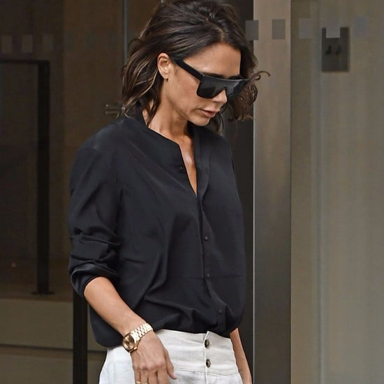 Victoria Beckham's White Pants New York September 2016
