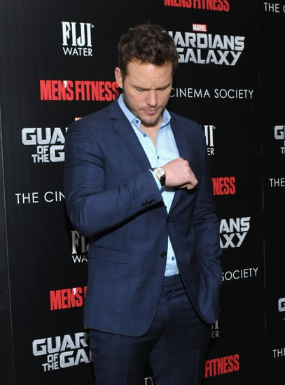 Chris Pratt Looking at His Watch on the Red Carpet | Picture