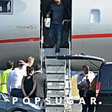 See Brad Pitt and Angelina Jolie Arrive in France One Day Before Their Wedding