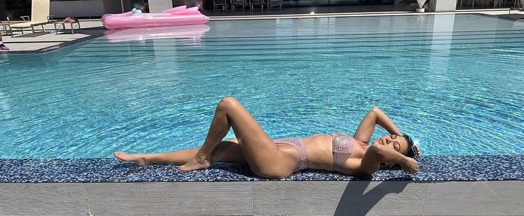 Kourtney Kardashian Pink Bikini April 2019