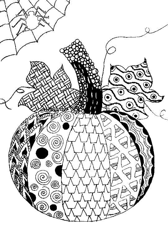 Patchwork Pumpkin Printable