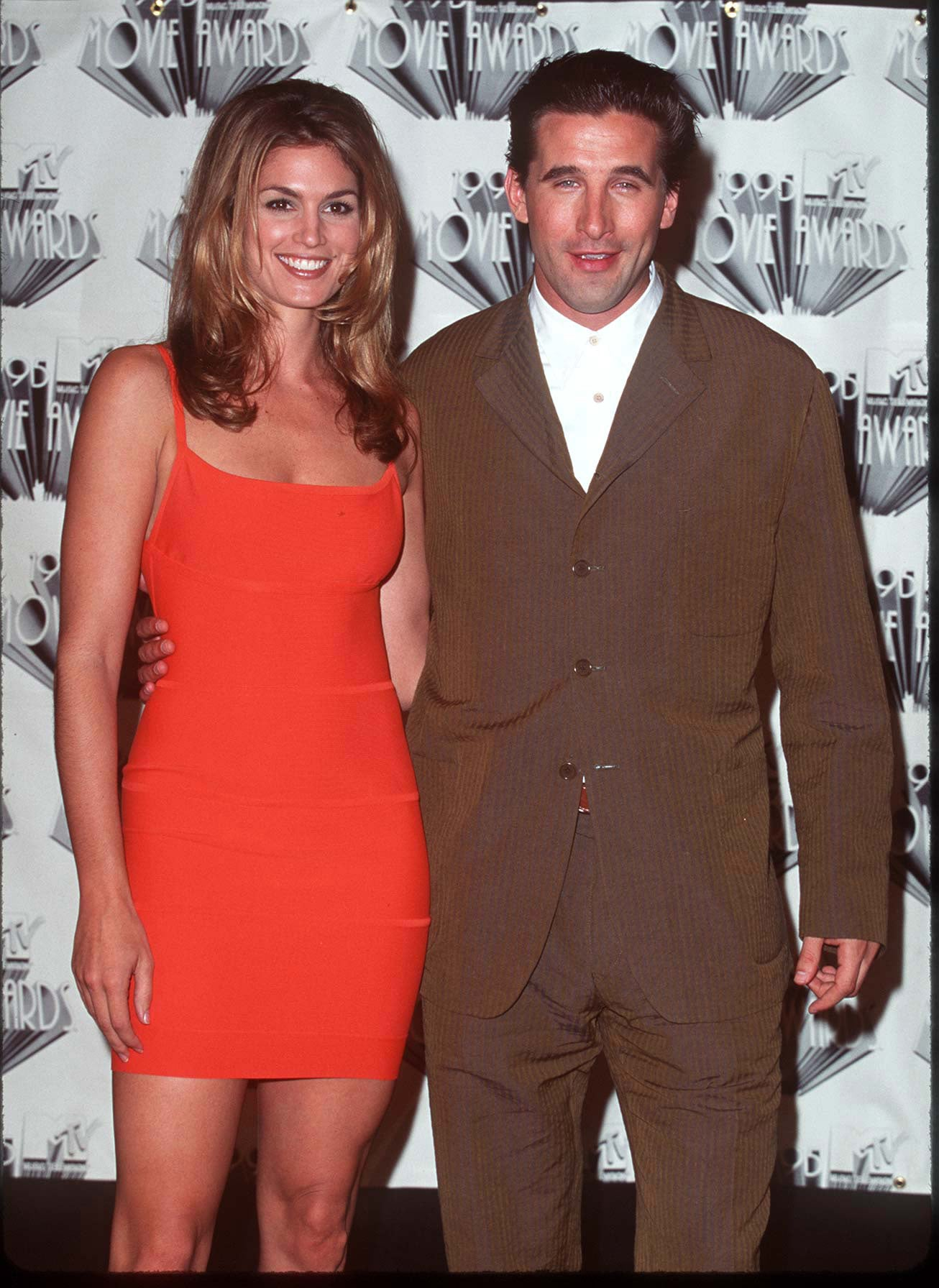 Cindy Crawford snapped pictures with Billy Baldwin.