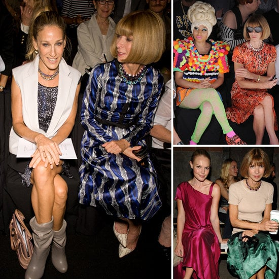 Best seat in the house: who's been sitting front row with Anna Wintour?