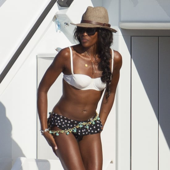Naomi Campbell and Stacy Keibler on a Yacht