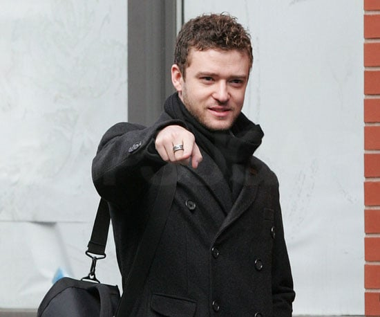 Slide Photo of Justin Timberlake Leaving NYC Apartment