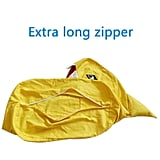 The extralong zipper on the Lmeison Animal Storage Bean Bag Chair ($24) means you can put objects of any size inside.
