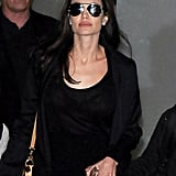 Angelina Jolie Wearing Louis Vuitton Bag at LAX