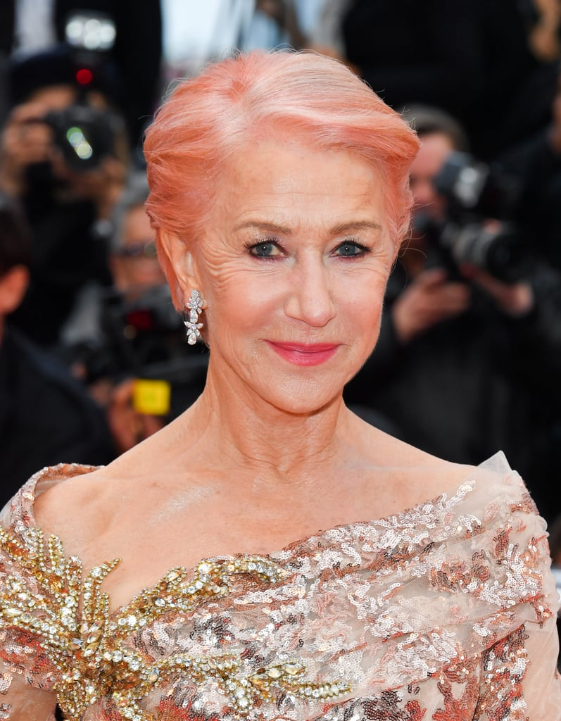 Helen Mirren Pink Hair at Cannes Film Festival