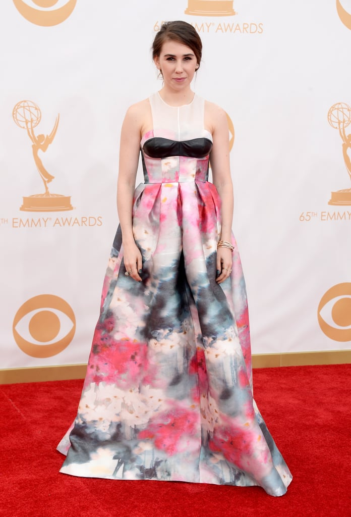 Zosia Mamet on the red carpet at the 2013 Emmy Awards.