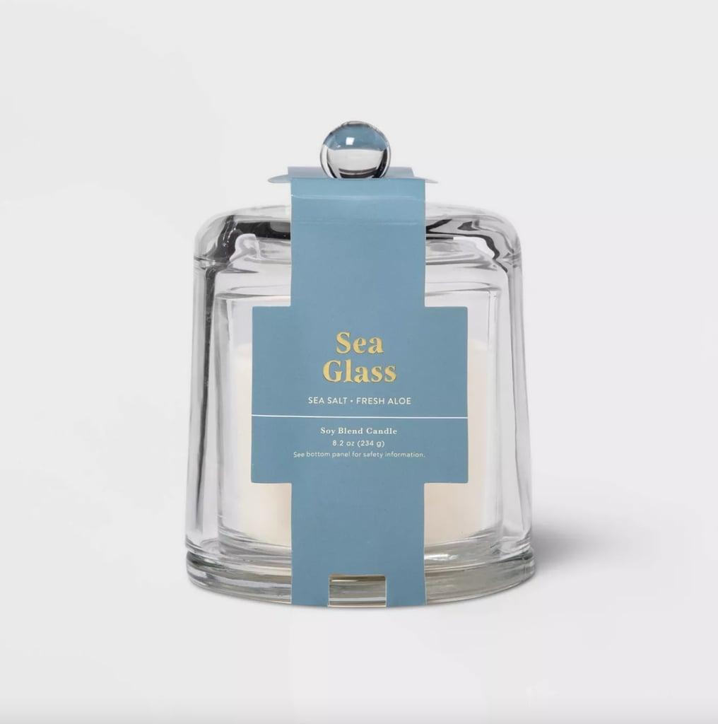 Cloche Sea Glass Candle