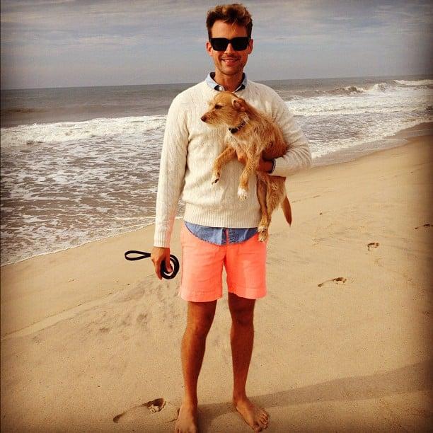 Brad Goreski showed off a colourful beach-day look. Source: Instagram user mrbradgoreski