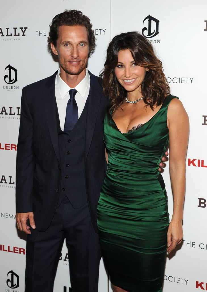 Matthew McConaughey posed with Gina Gershon at a screening of Killer Joe.
