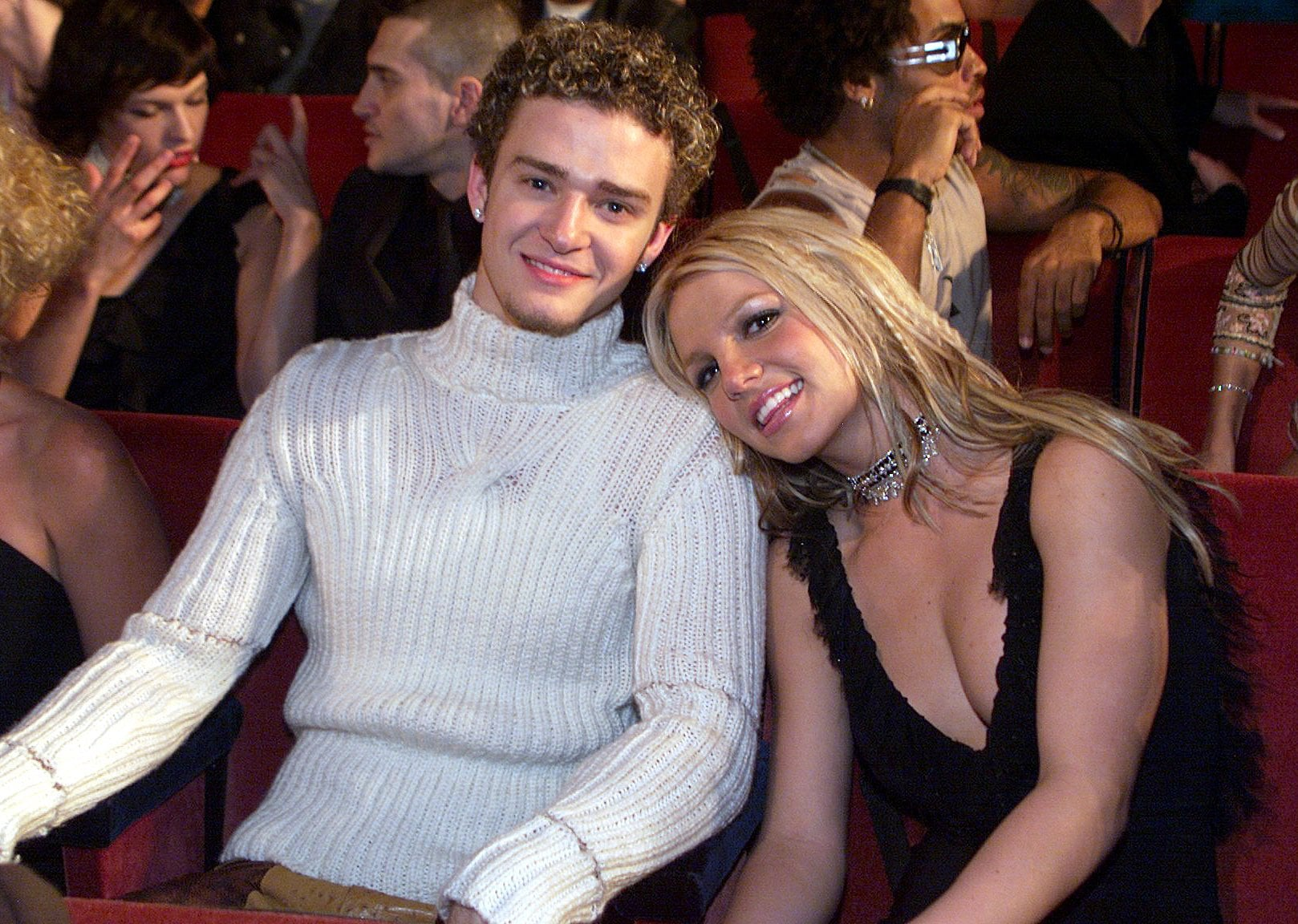 When he cuddled up with Britney at the 2000 MTV VMAs.