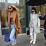 Kendall can always rely on Gigi to brughten her look.