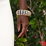 Viola Davis chose a stunning Van Cleef & Arpels bangle to contrast her all-white dress.