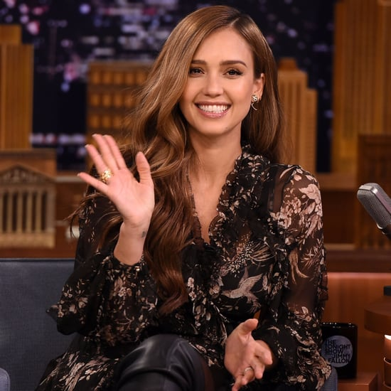 Jessica Alba on the Tonight Show August 2017